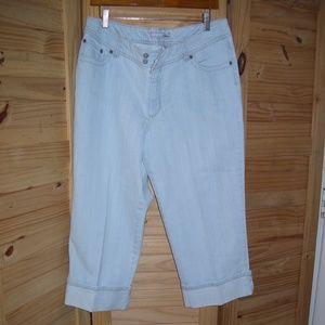 Chicos Platinum Denim Lite Blue Jeans Size 2.5